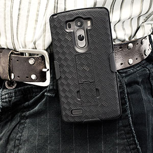 Encase Mesh LG G3 Tough Case & Holster/Belt Clip - Black