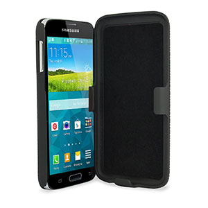 Encase Mesh Samsung Galaxy S5 Tough Case & Holster/Belt Clip - Black