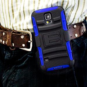 Encase ArmourDillo Pro Samsung Galaxy S5 Tough Case & Holster - Blue