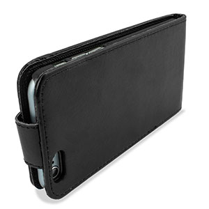Olixar Leather-Style iPhone 6S / 6 Wallet Flip Case - Black