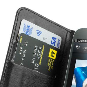 Encase Rotating 4 Inch Leather-Style Universal Phone Case - Black
