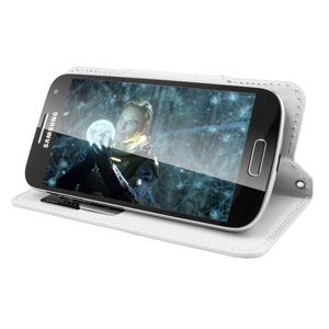 Encase Rotating 4 Inch Leather-Style Universal Phone Case - White