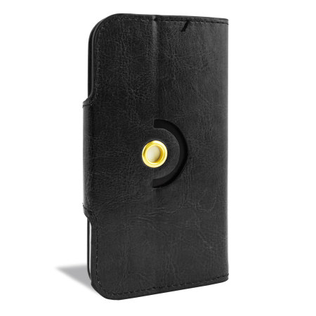 Encase Rotating 5 Inch Leather-Style Universal Phone Case - Black