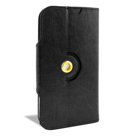 Encase Rotating 5 Inch Leather-Style Universal Phone Case - Black