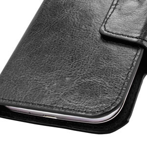 purchase cheap ec0b4 afe3b Olixar Leather-Style Universal Rotating 5 Inch Phone Case - Black