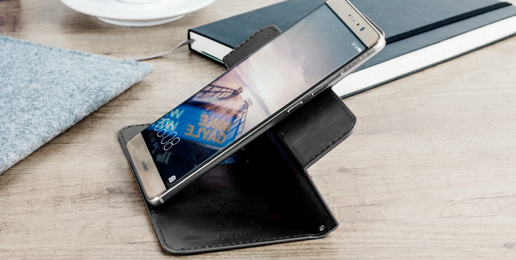 Olixar Rotating 5.5 Inch Leather-Style Universal Phone Case - Black