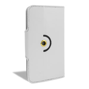 Encase Rotating 5.5 Inch Leather-Style Universal Phone Case - White