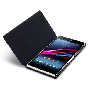 Sony Xperia Z Ultra Leather Style Stand Case - Black