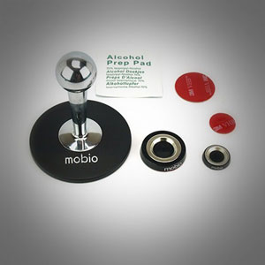 Mobio Pivot Mount for Smartphones and Tablets - Chrome