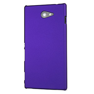 ToughGuard Sony Xperia M2 Rubberised Case - Purple