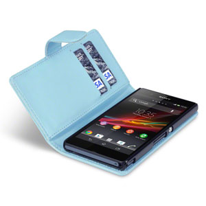 Adarga Sony Xperia Z Wallet Case - Light Blue
