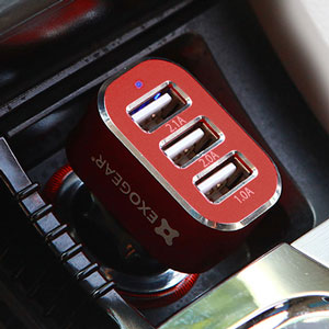 ExoCharge 3 Port Car Charger