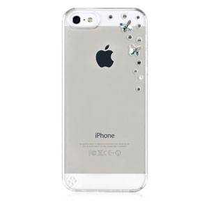 Bling My Thing Butterflies iPhone 5S / 5 Case - Silver Night