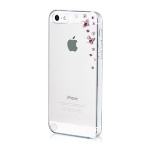Bling My Thing Butterflies iPhone 5S / 5 Case - Light Rose