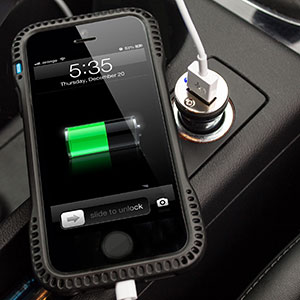 2 Amp USB Car Charger - Black