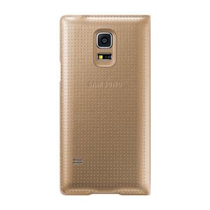 samsung galaxy s5 copper gold. official samsung galaxy s5 mini s-view premium cover - copper gold n