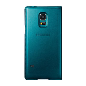 Official Samsung Galaxy S5 Mini S-View Premium Cover - Metallic Green