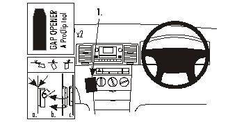 Brodit ProClip Angled Mount Volkswagen GTI, Golf, Jetta SportsWagen