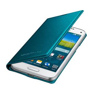 Official Samsung Galaxy S5 Mini Flip Case Cover - Metallic Green