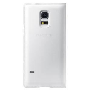 Official Samsung Galaxy S5 Mini Flip Case Cover - Metallic White