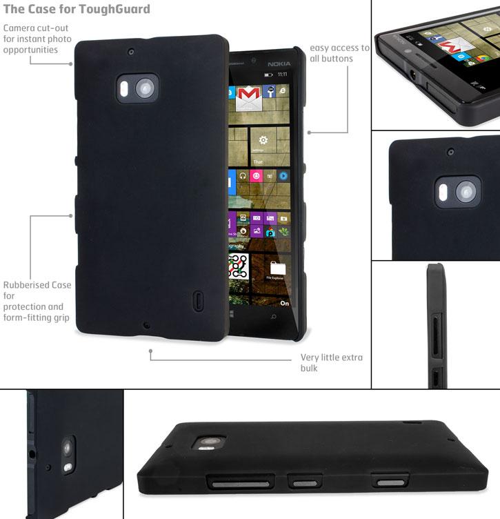ToughGuard Nokia Lumia 930 Rubberised Case - Black