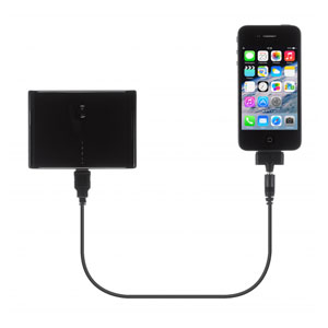 Kit: High Power 10000mAh Dual USB Portable Charger - Black