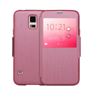 Moshi SenseCover Samsung Galaxy S5 Smart Case - Pink