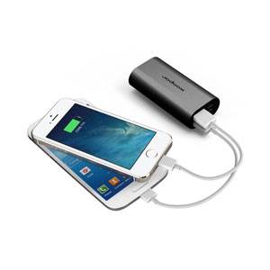 Xoopar Squid Mini 5200mAh Dual USB Power Bank - Black