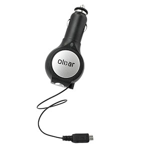 Olixar Retractable Micro USB In Car Charger With USB Port