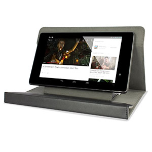 Encase Faux Leather Universal 7-8 Inch Tablet Stand Case - Black