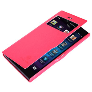 Nillkin Fresh Faux Leather BlackBerry Z3 View Case - Red