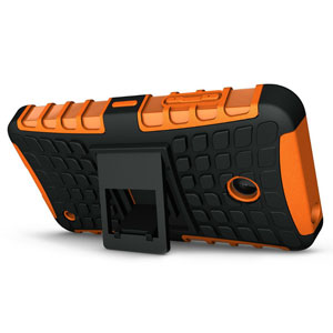 Armourdillo Hybrid Nokia Lumia 630 Protective Case - Orange