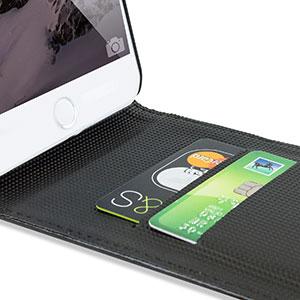 Encase Leather-Style iPhone 6 Plus Wallet Flip Case - Black