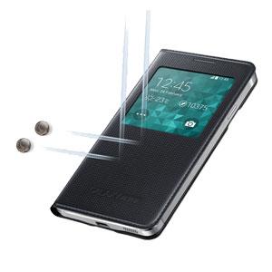 Official Samsung Galaxy Alpha S-View Premium Cover Case - Black
