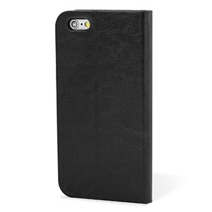 Encase Leather-Style iPhone 6 Plus Wallet Case With Stand - Black