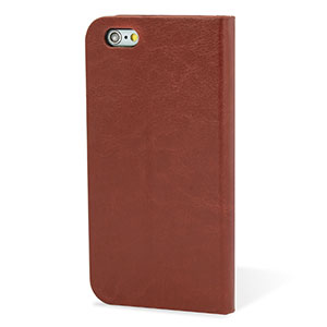 Encase Leather-Style iPhone 6 Plus Wallet Case With Stand - Brown