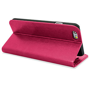 Encase Leather-Style iPhone 6 Plus Wallet Case With Stand - Hot Pink