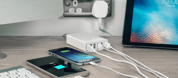Olixar 6 Port USB Smart IC Charger - 10 Amps / 50W