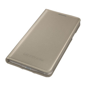 Official Samsung Galaxy Alpha Flip Cover - Gold