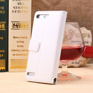 Encase Leather Style EE Kestrel Wallet Case - White