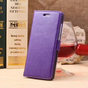 Encase Leather Style EE Kestrel Wallet Case - Purple