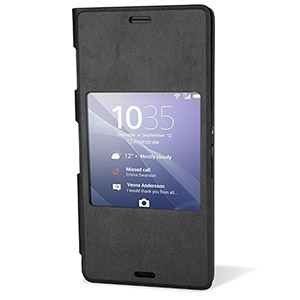 Official Sony Xperia Z3 Style Cover with Smart Window - Black