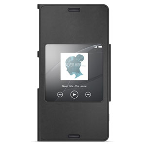 Sony Xperia Z3 Compact Style-Up Smart Window Cover - Black