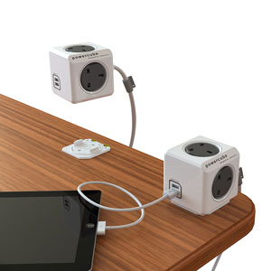 allocacoc PowerCube Extended USB - UK - 1.5m