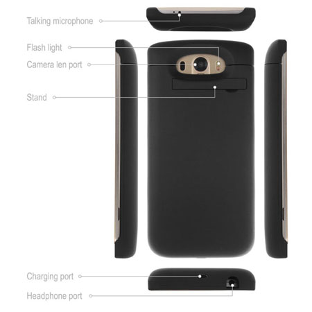 Power Jacket Case 3800mAh for LG G3 - Black