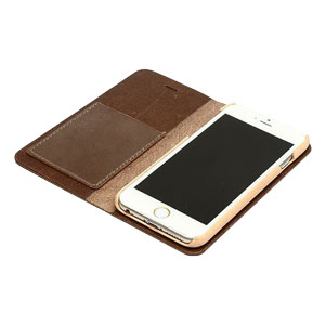 Zenus Tesoro iPhone 6 Leather Diary Case - Brown