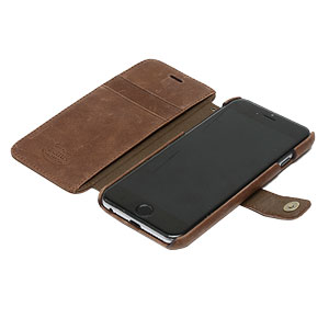 Zenus Vintage Diary iPhone 6 Case - Dark Brown