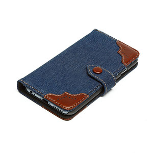 Zenus Denim Oxford Diary iPhone 6 Case - Blue
