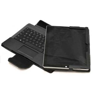 Leather-Style Microsoft Surface Pro 3 Stand Case - Black