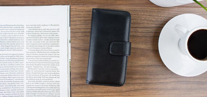 Olixar Genuine Leather iPhone 6S Wallet Case - Black